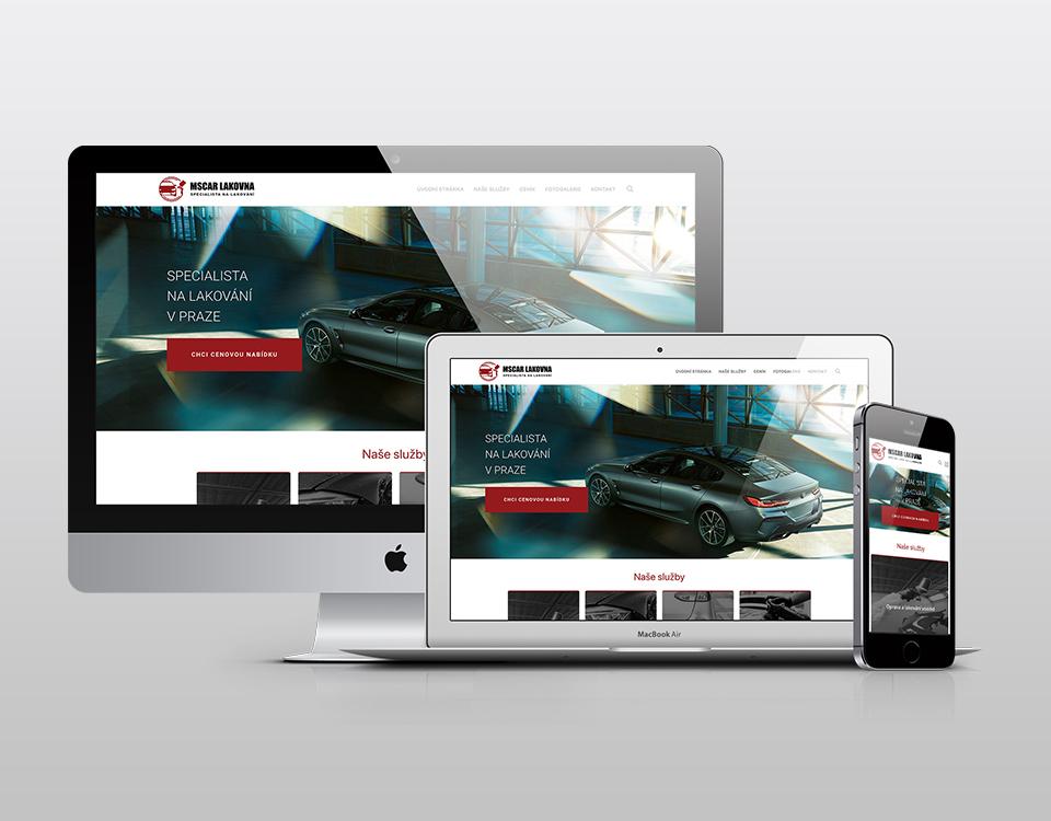 Webové stránky MS Car lakovna